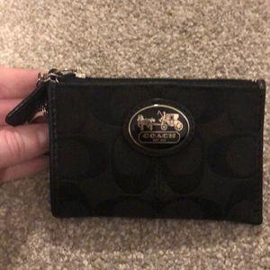 Coach key holder card purse